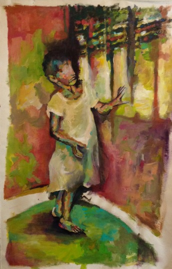 blindness oil on canvas