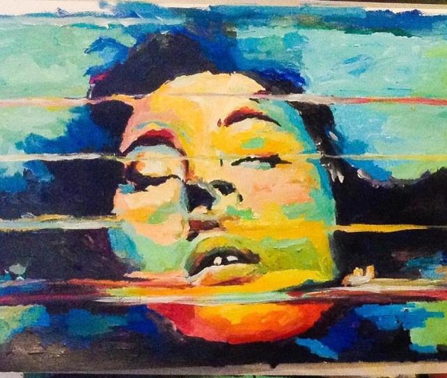 Górgone 1. 50x70, oil on paper