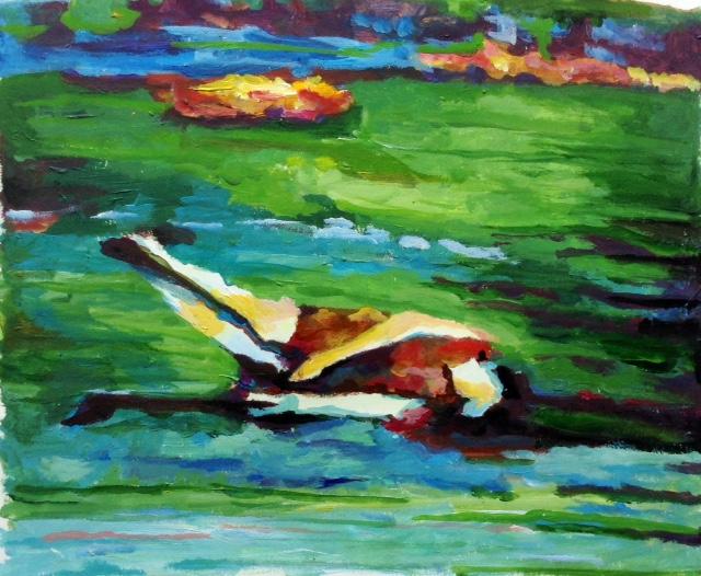 Górgone 4. 30x50, oil on paper